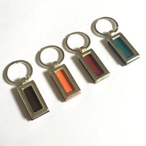 Porte clé rectangulaire cuir