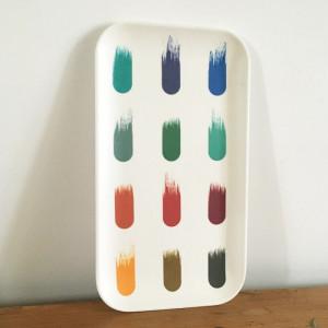 Plateau rectangulaire palette couleurs